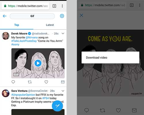 How to download twitter videos in android mobilelatest download twitter videos in android ccuart Images